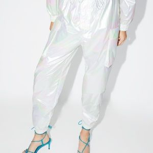Zara iridescent effect pants